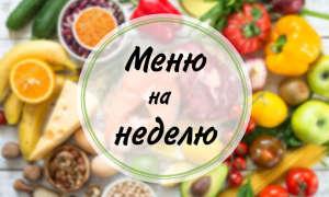 Меню правильного питания на неделю (Вариант №2)